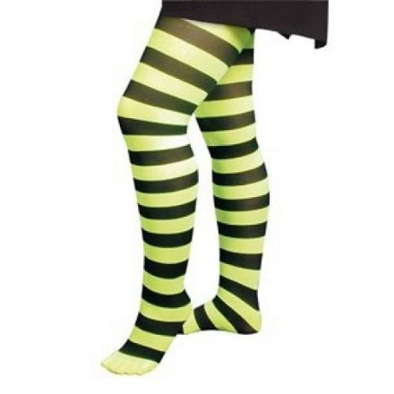 Green and Black Neon Adult Tights